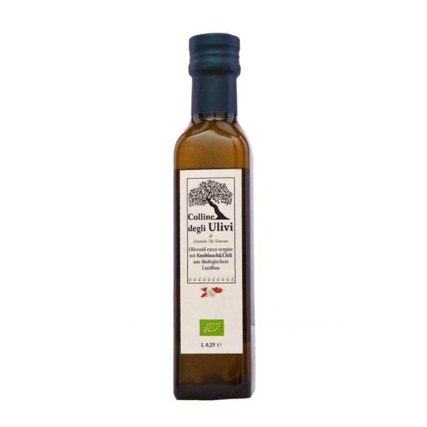 BIO Olivenoel extra vergine mit knoblauch & chili 0,25L
