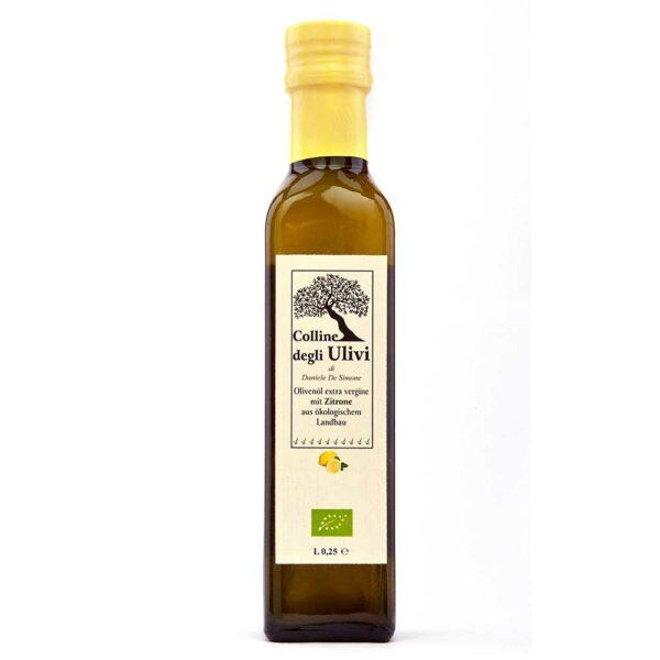 BIO Olivenoel extra vergine mit Zitrone 0,25L